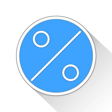 estimation: Percent Button Icon Concept No.10600