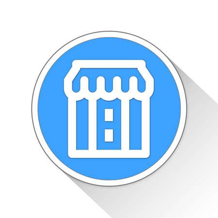 simple store: Store Button Icon Concept No.290