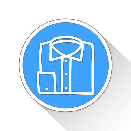 button up shirt: Shirt Button Icon Concept No.12196 Stock Photo