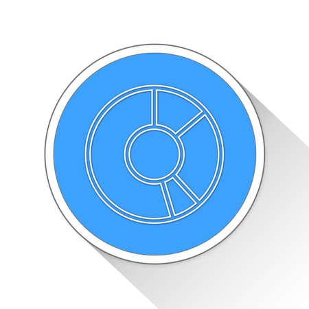 statics: donut chart Button Icon Concept No.4510