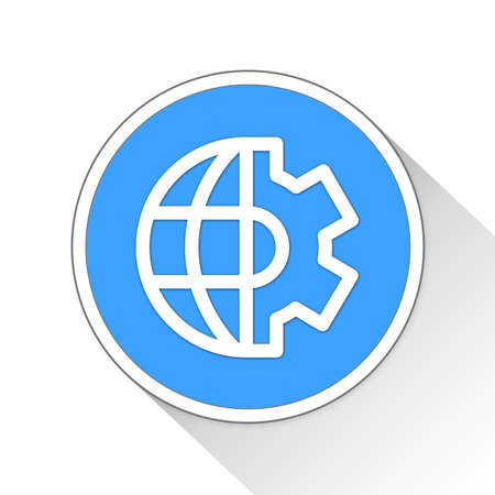 global settings: global mechanism Button Icon Concept No.5653