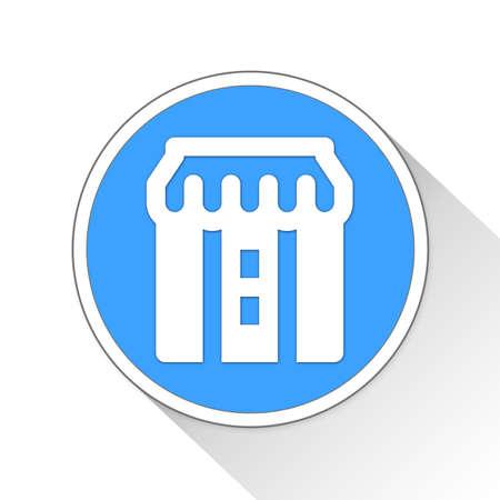 simple store: Store Button Icon Concept No.294