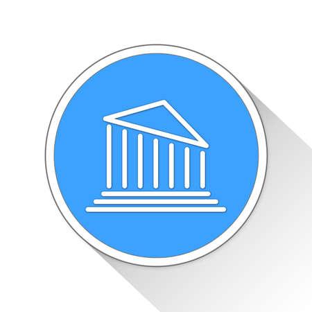 financially: Tilted Bank Button Icon Concept No.13892