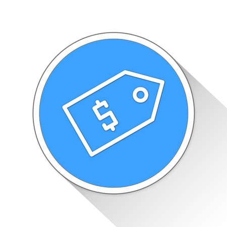 simple store: Price Tag Button Icon Concept No.10541