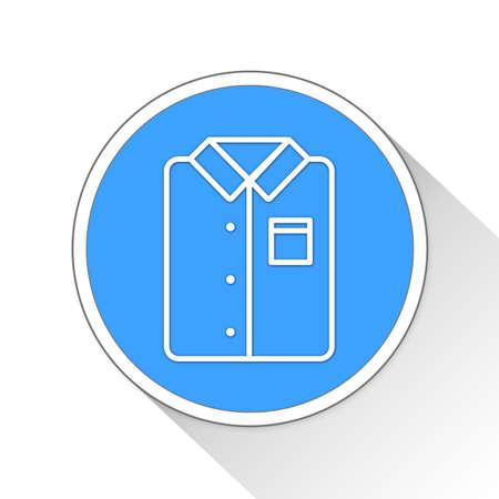 button up shirt: Shirt Button Icon Concept No.7633 Stock Photo