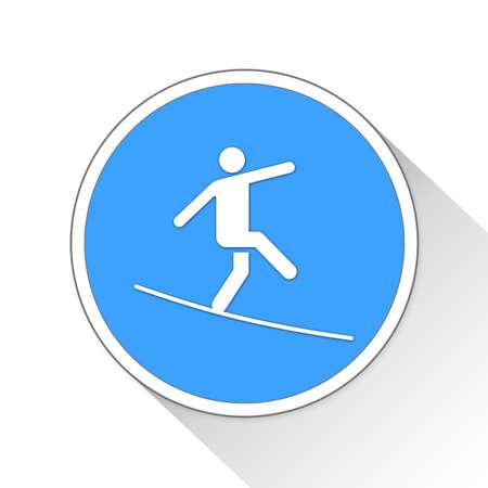 tense: Tightrope Button Icon Concept No.13738