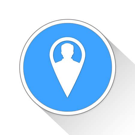 man profile: User Button Icon Concept No.13832