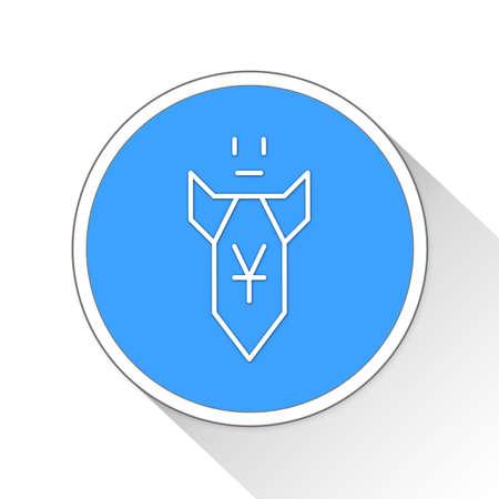 decline in values: loss Button Icon Concept No.12470
