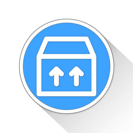 this side up Button Icon Concept No.5126 Stock Photo