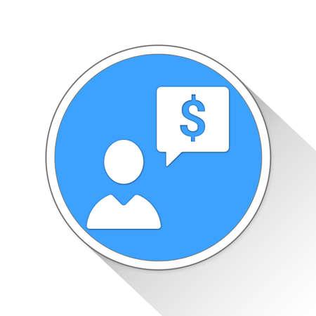 business idea Button Icon Concept No.7560