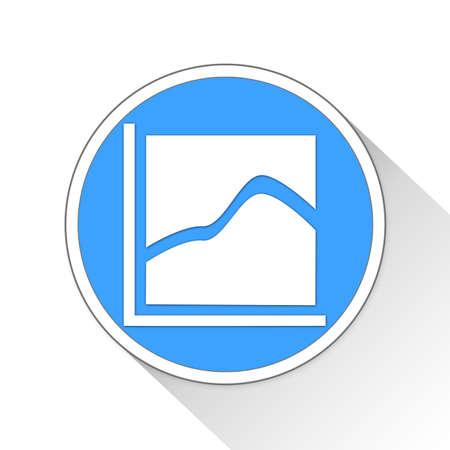 Area Chart Button Icon Concept No.13471 Stock Photo
