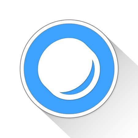 toss: coin toss Button Icon Concept No.3923