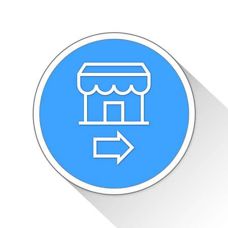 go to store: Business Button Icon Concept No.11072