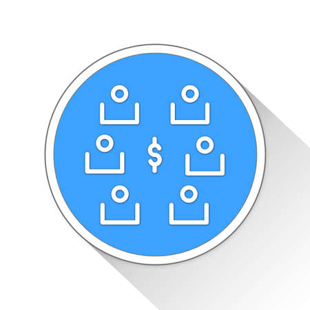 stakeholder: Shareholders Button Icon Concept No.12346
