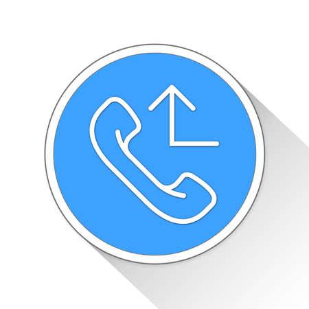 Redirect Phonecall Button Icon Concept No.11614 Stock Photo