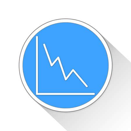 Graph Button Icon Concept No.13429 Stock Photo