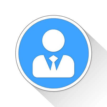 Businessman Button Icon Concept No.8695