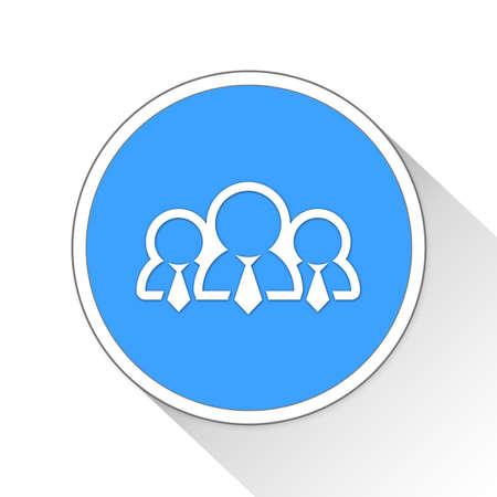 sidekick: employees Button Icon Concept No.13592 Stock Photo
