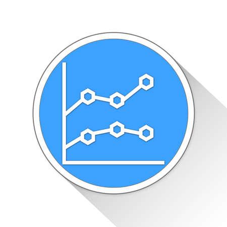line chart Button Icon Concept No.9736