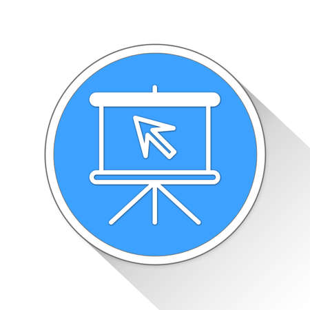 buisiness: Start Presentation Button Icon Concept No.6997