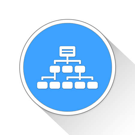 command structure: hierarchy Button Icon Concept No.9734