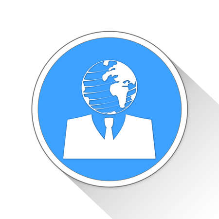 globalism: Global Citizen Button Icon Concept No.12335