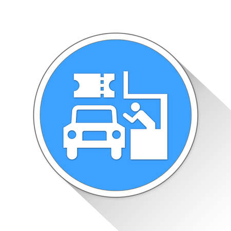 drive-through Button Icon Concept No.13384 Stock Photo