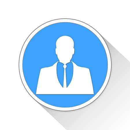 Business Man Button Icon Concept No.12288 Stock Photo
