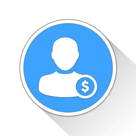 investor: User Button Icon Concept No.10874 Stock Photo