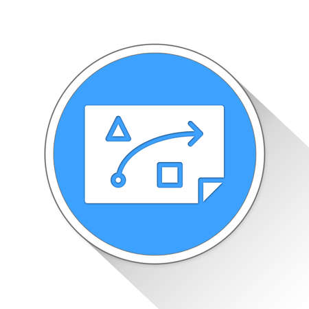 outworking: strategy Button Icon Concept No.10512