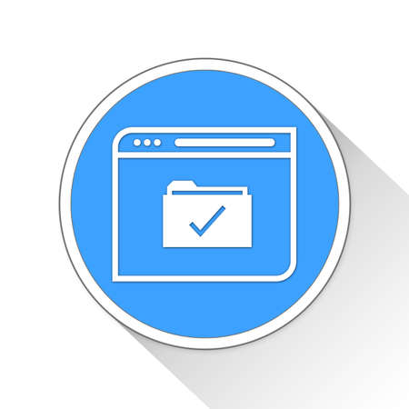 blue button: Business Web Browser Button Icon Concept No.7716