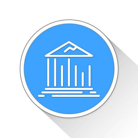 financially: Ruined Bank Button Icon Concept No.13899