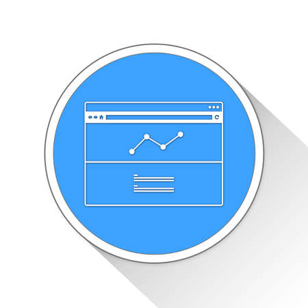 blue button: analytics Button Icon Concept No.14056