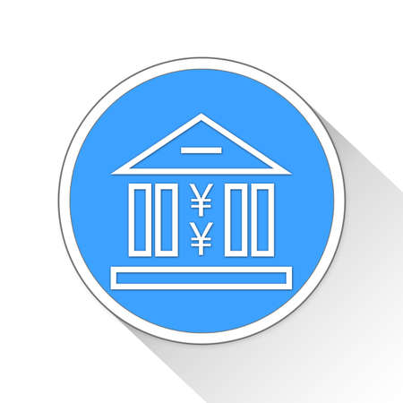 blue button: banking Button Icon Concept No.616 Stock Photo