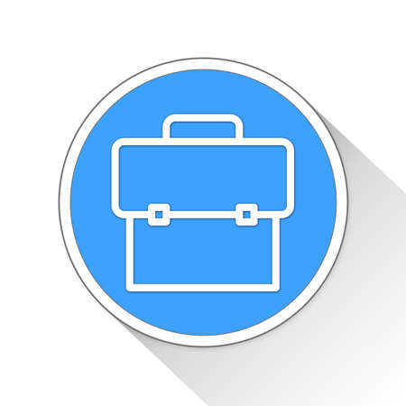 blue button: Briefcase Button Icon Concept No.9876 Stock Photo