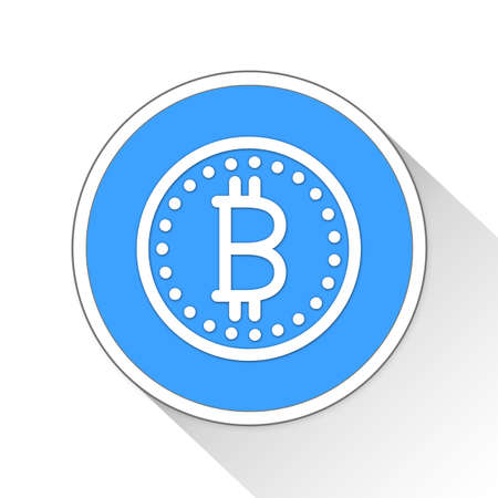 blue button: Bitcoin Button Icon Concept No.14467 Stock Photo