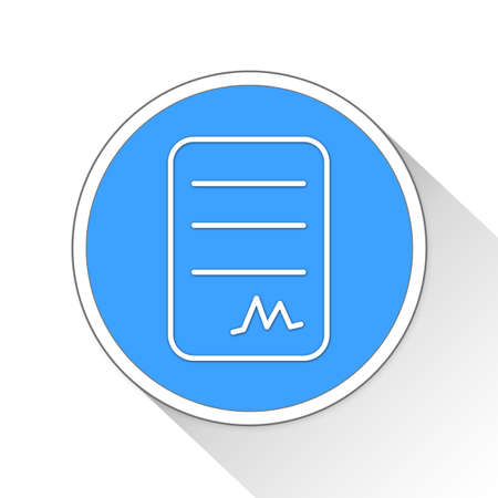signing papers: contract paper sheet Button Icon Concept No.12122