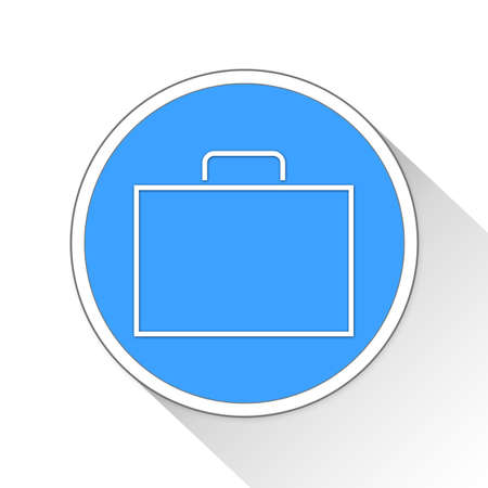 blue button: Briefcase Button Icon Concept No.4560