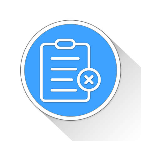 blue button: clipboard Button Icon Concept No.173