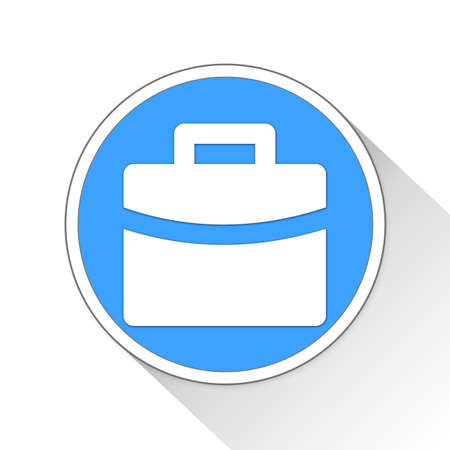 blue button: Briefcase Button Icon Concept No.2220 Stock Photo