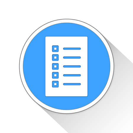 blue button: Checklist Button Icon Concept No.11456