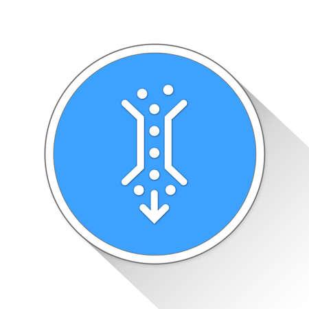bottleneck: bottleneck Button Icon Concept No.9070