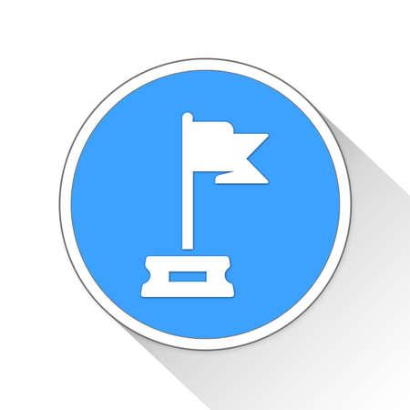 goal Button Icon Concept No.8500 Stock Photo