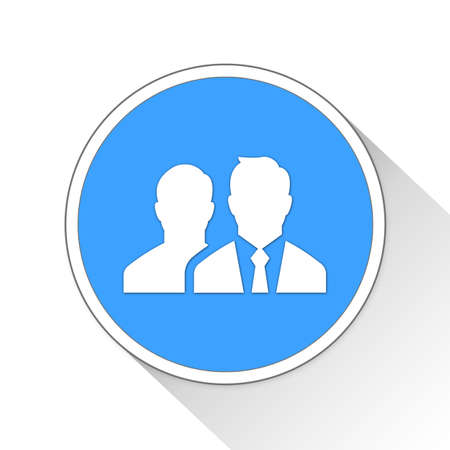 blue button: businessmen Button Icon Concept No.2963
