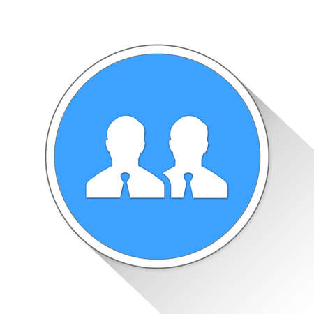 ine: business group Button Icon Concept No.8748