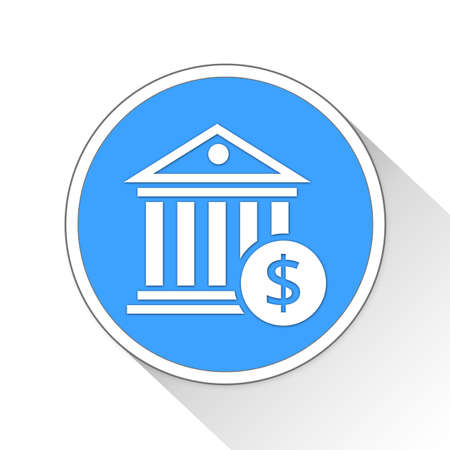 blue button: Bank Button Icon Concept No.12844 Stock Photo