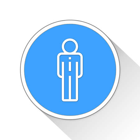 Businessman Button Icon Concept No.10040