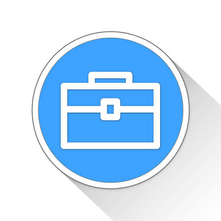 blue button: business case Button Icon Concept No.4241