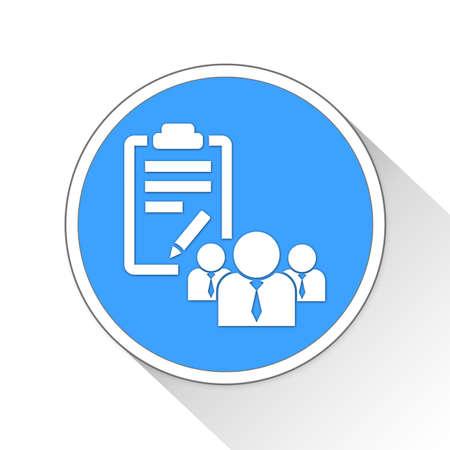 mandate: Project Mandate Button Icon Concept No.8705