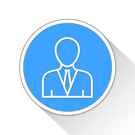 blue button: accountant Button Icon Concept No.2530